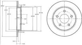 Delphi BG2332 - Bremžu diski autodraugiem.lv