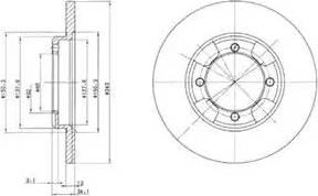 Delphi BG2324 - Bremžu diski autodraugiem.lv