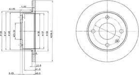 Delphi BG2375 - Bremžu diski autodraugiem.lv