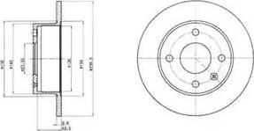 Delphi BG2376 - Bremžu diski autodraugiem.lv