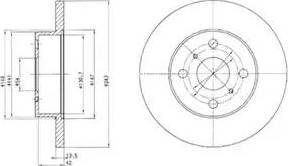 Delphi BG2254 - Bremžu diski autodraugiem.lv