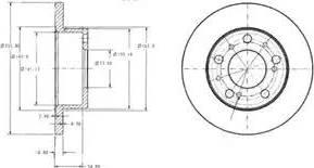 Delphi BG2253 - Bremžu diski autodraugiem.lv