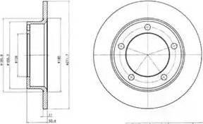 Delphi BG2208 - Bremžu diski autodraugiem.lv