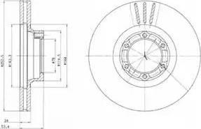 Delphi BG2284 - Bremžu diski autodraugiem.lv