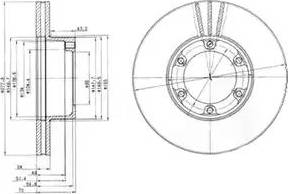 Delphi BG2286 - Bremžu diski autodraugiem.lv