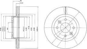 Delphi BG2283 - Bremžu diski autodraugiem.lv