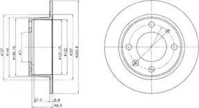 Delphi BG2220 - Bremžu diski autodraugiem.lv