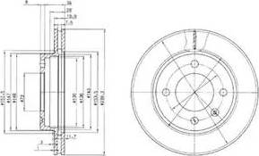 Delphi BG2273 - Bremžu diski autodraugiem.lv