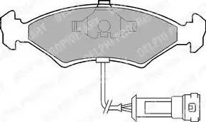 Delphi LP255 - Bremžu uzliku kompl., Disku bremzes autodraugiem.lv