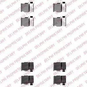Delphi LX0540 - Piederumu komplekts, Disku bremžu uzlikas autodraugiem.lv