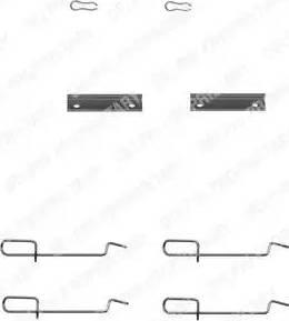 Delphi LX0142 - Piederumu komplekts, Disku bremžu uzlikas autodraugiem.lv