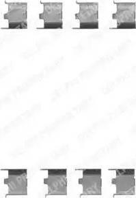 Delphi LX0147 - Piederumu komplekts, Disku bremžu uzlikas autodraugiem.lv