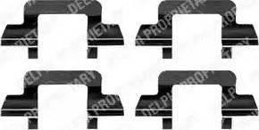 Delphi LX0365 - Piederumu komplekts, Disku bremžu uzlikas autodraugiem.lv