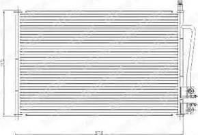 Delphi TSP0225459 - Kondensators, Gaisa kond. sistēma autodraugiem.lv