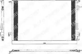 Delphi TSP0225463 - Kondensators, Gaisa kond. sistēma autodraugiem.lv