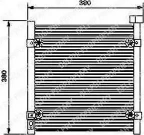 Delphi TSP0225422 - Kondensators, Gaisa kond. sistēma autodraugiem.lv