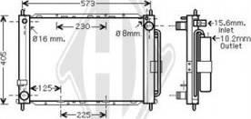 Diederichs DCM2937 - Radiators, Motora dzesēšanas sistēma autodraugiem.lv