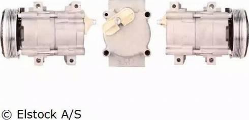 Elstock 51-0072 - Kompresors, Gaisa kond. sistēma autodraugiem.lv