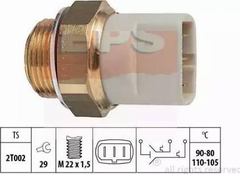 EPS 1.850.640 - Temperatūras slēdzis, radiatora / gaisa kondicioniera ventilators autodraugiem.lv