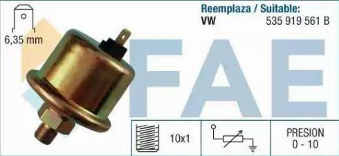 FAE 14120 - Devējs, Eļļas spiediens autodraugiem.lv