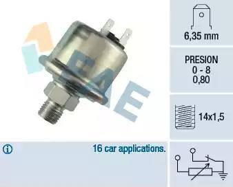 FAE 14780 - Devējs, Eļļas spiediens autodraugiem.lv