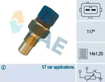 FAE 34440 - Devējs, Motora galvas temperatūra autodraugiem.lv