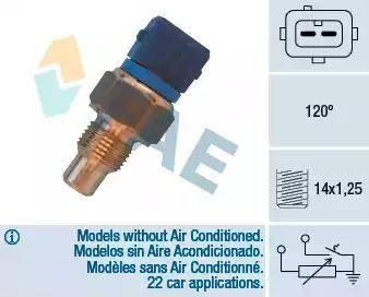 FAE 34460 - Devējs, Motora galvas temperatūra autodraugiem.lv