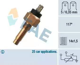 FAE 34160 - Devējs, Motora galvas temperatūra autodraugiem.lv