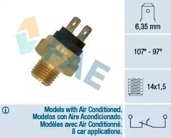 FAE 36030 - Temperatūras slēdzis, radiatora / gaisa kondicioniera ventilators autodraugiem.lv