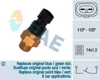 FAE 36200 - Temperatūras slēdzis, radiatora / gaisa kondicioniera ventilators autodraugiem.lv