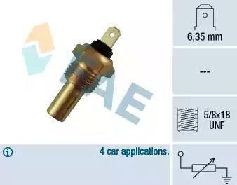 FAE 31210 - Devējs, Motora galvas temperatūra autodraugiem.lv