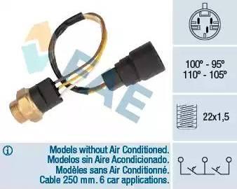 FAE 38080 - Temperatūras slēdzis, radiatora / gaisa kondicioniera ventilators autodraugiem.lv