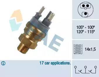 FAE 38140 - Temperatūras slēdzis, radiatora / gaisa kondicioniera ventilators autodraugiem.lv