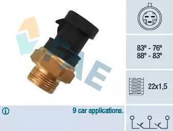 FAE 38200 - Temperatūras slēdzis, radiatora / gaisa kondicioniera ventilators autodraugiem.lv