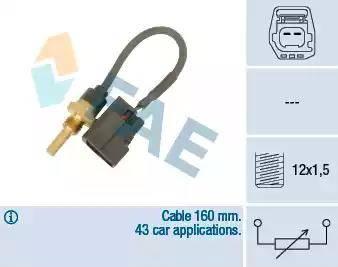 FAE 32425 - Devējs, Motora galvas temperatūra autodraugiem.lv