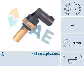 FAE 32710 - Devējs, Motora galvas temperatūra autodraugiem.lv