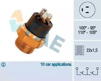 FAE 37880 - Temperatūras slēdzis, radiatora / gaisa kondicioniera ventilators autodraugiem.lv