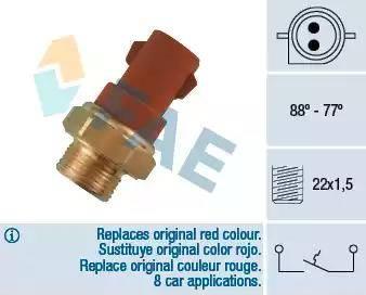 FAE 37230 - Temperatūras slēdzis, radiatora / gaisa kondicioniera ventilators autodraugiem.lv