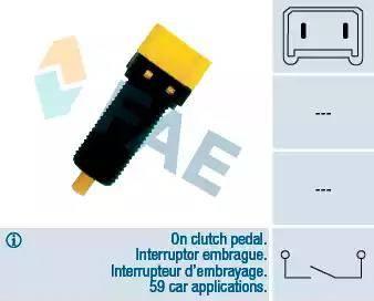 FAE 24860 - Slēdzis, Sajūga vadība (Tempomat) autodraugiem.lv