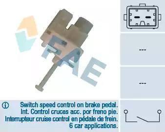 FAE 24820 - Bremžu signāla slēdzis autodraugiem.lv