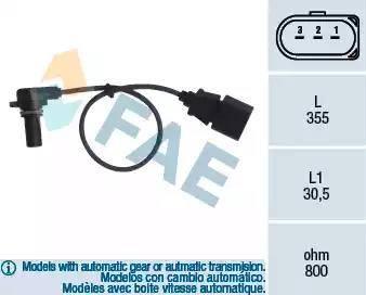 FAE 79062 - Rotācijas frekvences devējs, Automātiskā pārnesumkārba autodraugiem.lv