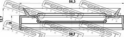 Febest 95PES-40560813C - Vārpstas blīvgredzens, Automātiskā pārnesumkārba autodraugiem.lv