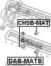 Febest CHSB-MAT - Saylentblok, riteņa balstiekārtas sviras autodraugiem.lv