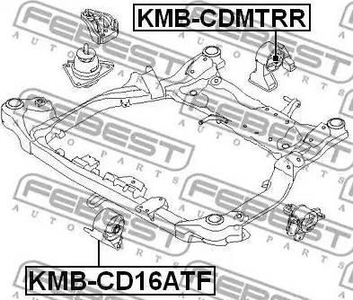 Febest KMB-CD16ATF - Kronšteins, Motora stiprinājums autodraugiem.lv