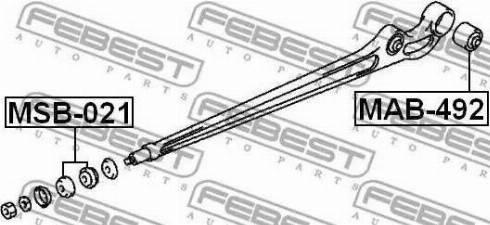 Febest MSB-021 - Saylentblok, riteņa balstiekārtas sviras autodraugiem.lv
