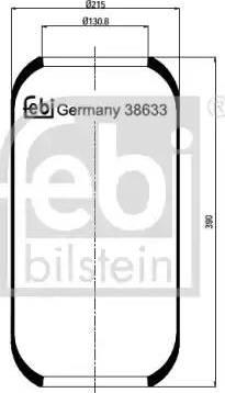 Febi Bilstein 38633 - Pneimoatsperes spilvens, Pneimopiekare autodraugiem.lv