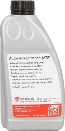 Febi Bilstein 29449 - Automātiskās pārnesumkārbas eļļa autodraugiem.lv