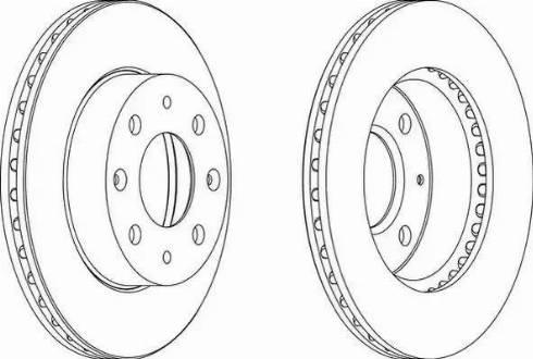 Ferodo DDF451 - Bremžu diski autodraugiem.lv