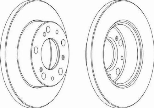 Ferodo DDF063 - Bremžu diski autodraugiem.lv