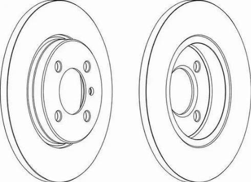 Ferodo DDF062 - Bremžu diski autodraugiem.lv